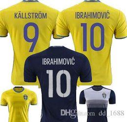 Wholesale 2016 Jersey Sweden Zlatan Ibrahimovic KALLSTROM Sebastian Larsson Kim Kallstrom Berg Home Away KALLSTROM Soccer Jersey Football shirt