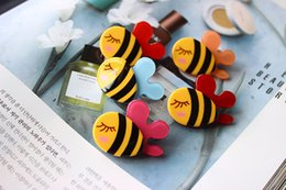 Wholesale Girls Hair Clips Acrylic bee Cute Felt Animals Cartoon Baby Felt Clips Passarinhos DE Feltro Animals Felt Clips Colors Barrettes accessory
