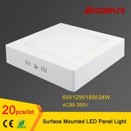 Поверхность панели для продажи-6W 12W 18W 24W площади Светодиодная панель Накладные светодиодные светильники освещение AC85-265V свободное Shippping