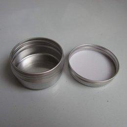 Wholesale 50pcs Aluminium Balm Tins Pot Jar g g g g g g g g g g Aluminum Jars Lip Balm Pots Cosmetic Container Tins