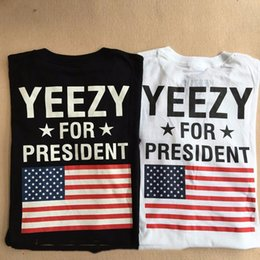 Wholesale T Shirt Men High QualityFor President Obama American Flag T shirt Kanye West USA Yeezus Tees T Shirts