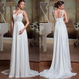 Simple Backless A Line Cheap Beach Wedding Dress 2017 Lace Wedding Gown Bride Robe De Mariage Vestidos De Noiva