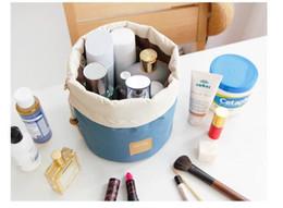 Wholesale Large capacity storage bag Cosmetic Bag Wash bag Rope pulling Drum Travel package Storage bag Household storage bag