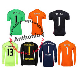 Wholesale GOALKEEPER soccer jersey ARSENAL MADRID DORTMUND JUVENTUS BUFFON CECH OSPINA GK camisetas futbol camisa de futebol maillot de foot
