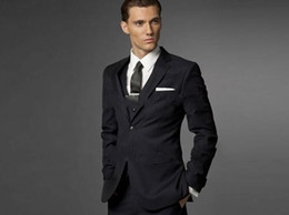 Groom Suit Wedding Suits For Men 2016 Black Mens Suits Wedding Groom Tuxedo, Tailored 3 Piece Suit Black Wedding Tuxedos For Men