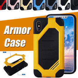 Bumblebee Hybrid Plastic Frame + TPU Cover Rubber Armor Case Double Layer Drop Protection Shockproof Skin Cover For iPhone X 8 7 Plus 6 6S