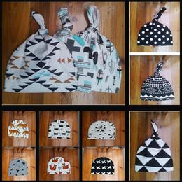 Wholesale New Baby Boys Girls Beanie Hat Toddler Infant Newborn Geometric Pattern Comfy Hat Cap Hospital Cap Spring Warm Cotton Bonnet Cap GZ H01