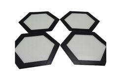 Hexagon shape Wholesale slick Silicone Fiberglass Silicone Macaron Baking Mat Baking Mat Tray Oven Dough Rolling Liner Sheet