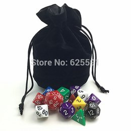 Wholesale TOP Quality Dice bag Jewelry Packing Velvet bag quot Velvet Drawstring bags amp Pouches for gift game colors Board Game