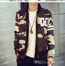 Nouvelle Arrivée Hommes Veste Camouflage Baseball Hoodies minces Automne Top qualité coréenne Camo Baseball Veste Casual korean hoodie baseball jacket on sale à partir de coton ouaté korean veste de baseball fournisseurs