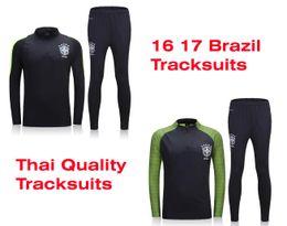 Wholesale Benwon Brazil soccer tracksuit thai quality football coats long sleeve outdoor winter sets brasil training long pants sports jackets
