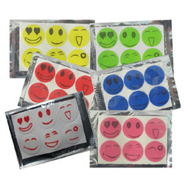Wholesale Smiley Face Mosquito - Mosquito Repellent Stickers QQ Expression emoji Nature Anti Mosquito Repellent Insect Repellent Bug Patches Smiley Smile Face Patches new