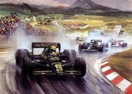 world F1 race car,Genuine Handpainted race Art Oil Painting On High Quality Canvas,in customized size accepted