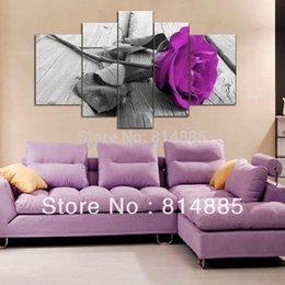 Wholesale 5Panel Direct From Artist Painting Handmade Modern Flower Oil Painting On Canvas Wall Art World JYJHS076