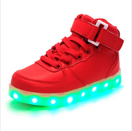 2016 style children's LED light shoes kids Nightclub dance shoes boys and girls sneaker fashion shoes casual shoes for 4-16 years child.