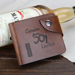 Promotion couleur de titulaire de la carte Classique cowboy hommes poches en cuir Porte-cartes marque portefeuille nouveaux portefeuilles de bourse pour les hommes de couleur brune livraison gratuite