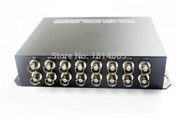 New CCTV Mini16Channels Fiber Optic Video Converter 16ch Video to Fiber optic Multimode 550M FC connector
