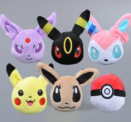 Wholesale New cm Pikachu Soft Plush Toy Pendant Key Chain Doll Gift For Children Poke Toys Stuffed Animals
