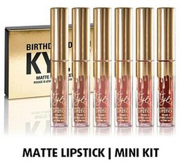 Wholesale Kylie Jenner Birthday Edition Lipkit In LEO Limited CONFIRMED Matte Liquid Lipsticks Rouge a Levres Makeup Lip Gloss Lipgloss Mini Kit Brand