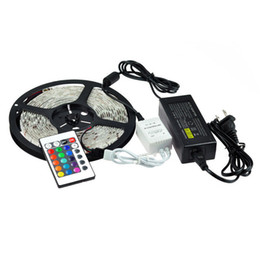 12V 30W 5M 5050 60 LED Waterproof RGB Strip Light for Holiday + Controller+12V 5A Adapter