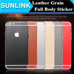 Wholesale 360 Degree Full Body Leather Grain Look Sticker Skin Case for iPhone S Plus S SE Samsung Galaxy Note S7 Edge S6 Edge Plus Hot
