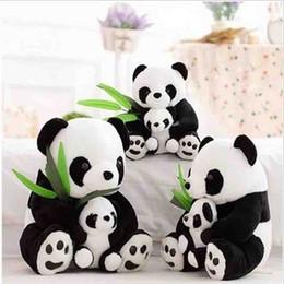 Oreillers panda en peluche en Ligne-Jouets en peluche pour bébé Mère et bébé Poupées en panda farcies Coussins de panda doux farcies Poupée de jouet pour enfants Livraison gratuite
