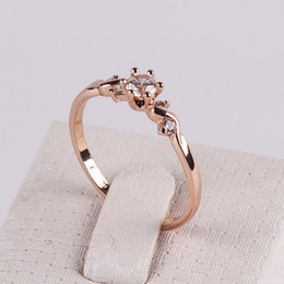 OL Wings of an angel Zircon Ring 18K Rose Gold Plated Fashion High-grade Decorative Jewelry