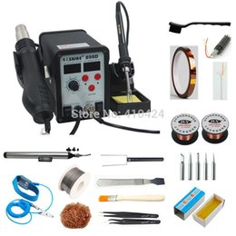 Wholesale Saike D Rework Hot Air station Soldering Desoldering Station SMD Rework Station W with Welding Tools Kit