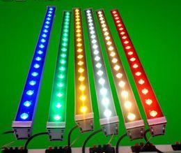 Cheap Hot Outdoor lighting led flood light 12W 18W LED wall washer light lamp staining light bar light AC85-265V RGB for many colors DHL