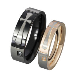 5 pairs per Lot Gold   Black Plating Couples Rings 316 Stainless Steel Rings High Polish CR-022