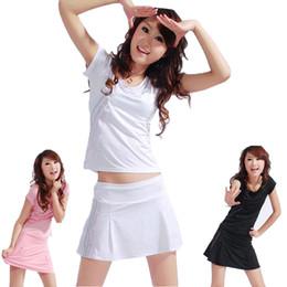 Wholesale Girl bowling sets Beautiful bowl sport shirt Nice sand beach short skirt New tennis clothing wear Women sportwear