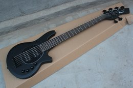 Wholesale Bongo Music Man Strings Bass Erime Ball StingRay Matte Black Electric Guitar V Battery HH Active Pickups Black Pickguard Black Hardware