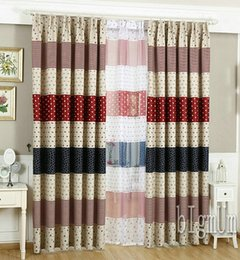 New Arrival Modern pastoral Curtains Sheer Curtains 100% Blackout Stripe Window Drape Free shipping
