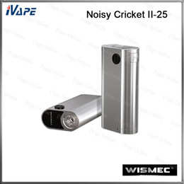 Wholesale 100 Original Wismec Noisy Cricket II Mod Noisy Cricket Mod Dual Cell Mods Upgraded from Noisy Cricket Multiple Circuit Protection