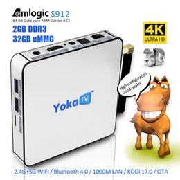 Wholesale Amlogic S912 Octa Core Yoka TV KB2 Android Box GB GB G GHz Dual WIFI Bluetooth Android marshmallow KODI K Media Player