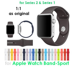 Wholesale 1 Original Mold Silicone Sport Band For Apple Watch Band Cocoa Ocean Blue Concrete Sand Pink New Colors Wrist Strap Bracelet Replacement