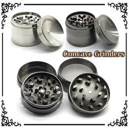 Wholesale Concave Grinders With Sharpstone Logo mm Herb Grinders Layers Metal Grinders Zinc Alloy Concave Surface Tabacco Grinder