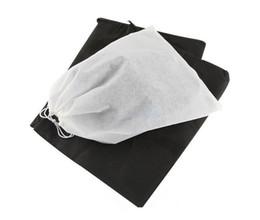 Wholesale Hot sales Travel Storage Shoe Dust proof Tote Dust Bag Case black white Non Woven Travel Shoe Storage Bag