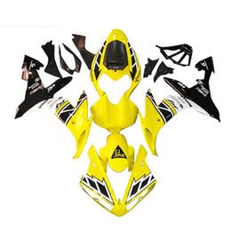 Motos sportives carénage en Ligne-Kit de carénage d'injection complet pour Yamaha 1000 YZF R1 Année 2004 2005 2006 Carrosserie de moto ABS Jaune Blanc Noir Sport Bike Couverture complète