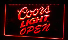 LS451-r Coors Light Beer OPEN Bar Neon Light Sign