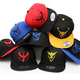Wholesale Hot Poke Go Baseball Caps Fashion Poke Hats Mixed Casual Pikachu Caps Adjustable Poke Ball Snapbacks Hats Hip Hop Pocket Monster Poke Caps