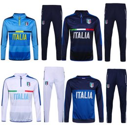 Wholesale 2017 Italy tracksuit long pants tracksuit coat sweater jackets sports jersey New ItalyEngland and Spain Tracksuit jersey