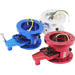 New High Quality Aluminum STEERING WHEEL BLACK QUICK RELEASE TILT SYSTEM JDM RACE RACING Red,Blue,Siliver
