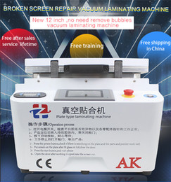 Wholesale 12 inch AK Plate Type Laminating Automatic Lock Vacuum LCD OCA Laminator Machine Bubble Remover Machine For LCD Repair
