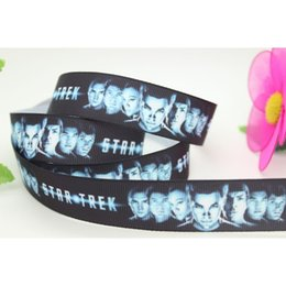 Wholesale 7 quot mm Movie Star Trek Printed Grosgrain Ribbon Apparel Party Gift Wrapping Craft Event Decos DIY Accessory Y A2