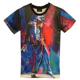 tshirt New Fashion men's 3d T-shirt print King of Rock Roll Michael Jackson 3d t shirt for men Boy Tshirt Asia M L XL XXL HT8