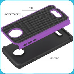Wholesale MOTO Z Play Case Shockproof In Heavy Duty Tough Hybrid Rubber Silicone TPU Football Skin Hard Case for MOTO Z Play