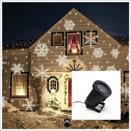 2016 new Waterproof Moving Snow Laser Projector Lamps Snowflake LED Stage Light For Christmas Party Landscape Light Garden Lamp Outdoor