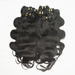 Wholesale Market Quite Cheap processed Body Wave Good Quality Human Hair Actual Healthy Girl Hair 10- 28 6pcs lot 50g pcs