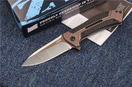 Wholesale ZT Zero Tolerance CF ZT0801CF ZT0801 S35VN d2 blade steel Carbon Fiber handle ball bearing Folding knife gift knife